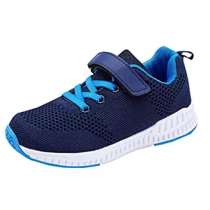 BOYS GIRLS RUNNING SHOES MESH ATHLETIC LIGHTWEIGHT EASY WALKING SNEAKERS
